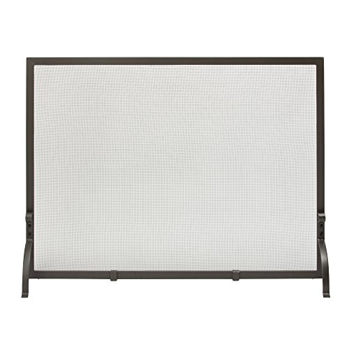 Uniflame, S-1154, Large Single Panel Olde World Iron Screen Finish Screen