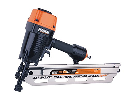 Freeman PFR2190 Pneumatic 21 Degree 3-1 2 Full Round Head Framing Nailer Ergonomic and Lightweight Nail Gun with Interchangeable Trigger, Tool-Free Depth Adjust, and No Mar Tip