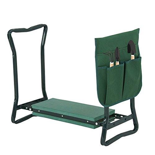 LEMY Garden Kneeler Seat Multiuse Portable Garden Bench Garden Stools Foldable Stool with Tool Bag Pouch EVA Foam Pad (24 3/8