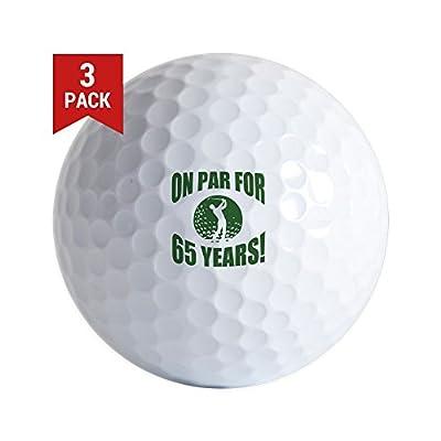 CafePress - Golfer's 65Th Birthday - Golf Balls (3-Pack), Unique Printed Golf Balls
