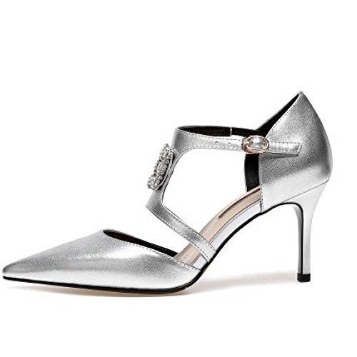 Aiguilles DKFJKI Élégantes Joker à pour Silver Squelettées Talons Chaussures Mode Basses à Mode La Femmes à Chaussures Chaussures Femmes Robes pour La nrarqFx