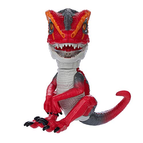 Adagod Collectible Interactive Dinosaur,Finger Dinosaur Intelligent Sensor Interactive Toy Dinosaur Shape Electronic Robot Puppets for Kids Pet Xmas Gifts (Red) ()