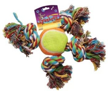 Spunkeez Rope with X Tennis Ball