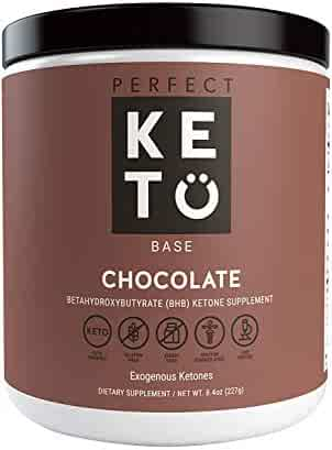 Perfect Keto Chocolate Exogenous Ketones: Base BHB Salts Supplement- Ketones for Ketogenic Diet Best to Support Energy, Focus and Ketosis Beta-Hydroxybutyrate BHB Salt