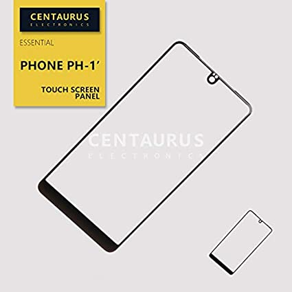 for Essential Phone PH-1 5 7 New Outer Touch Screen Replacement (NO Cable)  Lens Panel Black
