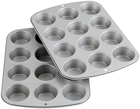 Wilton Recipe Right Muffin Pan Multipack, 12-Cup (2-Pk.), Assorted