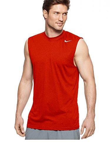 Nike Mens Legend Dri Fit Sleeveless T Shirt (XXL, Gym Red) ()