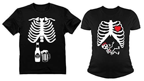 Halloween Skeleton Baby Girl X-Ray Couples Set