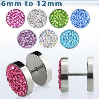 distribuidor mayorista 124c5 e893d Expansor falso Transparente cristal 6mm Expansor de oreja ...