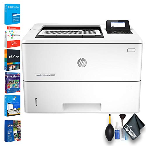 HP Laserjet Enterprise M506dn Monochrome Laser Printer (F2A69A) Essential Bundle