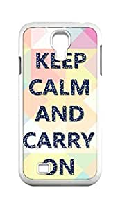 Cool Painting keep calm and carry on Snap-on Hard Back Case Cover Shell for Samsung GALAXY S4 I9500 I9502 I9508 I959 -361