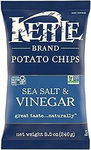 Kettle Brand Potato Chips, Sea Salt and Vinegar, 8.5 Ounce Bag
