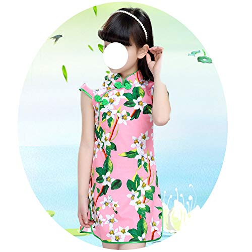 Baby Girls Dresses Chinese Traditional Style Cheongsam Costume Children Clothing,Style Seventeen,12]()