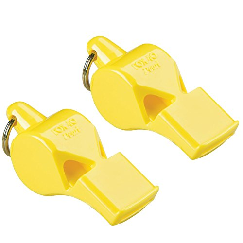 Fox 40 Pearl Sports and Safety Loud Marine Whistle, Yellow (2 ()