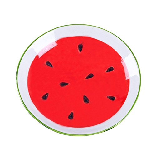 XDOBO 4Pcs Cute Fruit Pattern Ceramics Seasoning Dishes/Tea Bag Holders/Ketchup Saucer/Appetizer Plates/Vinegar Spice Salad Soy Sushi Wasabi Seasoning Dipping Bowls/Chili Oil by xdobo (Image #7)