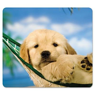 Fellowes 7-1/2 x 9 Inches Recycled Mouse Pad with Nonskid Base, Puppy in Hammock (FEL5913901) ()