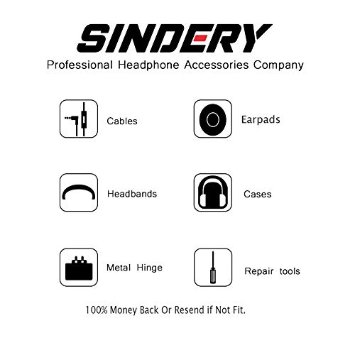 SINDERY Studio 2.0 Earpads Headband Replacement Ear Cushion Top Band for Beats Studio Wireless Over-Ear Headphones