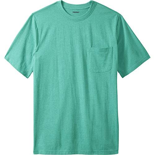 KingSize Men's Big & Tall Lightweight Pocket Crewneck T-Shirt, Tidal Green