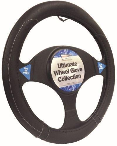Peugeot 306 Hatchback Black Steering Wheel Cover Glove 37cm: