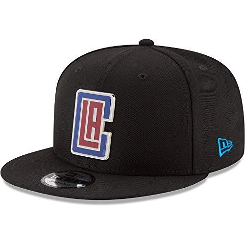 New Era NBA LA Los Angeles Clippers 9FIFTY Snapback Cap, Adjustable Hat (Black)