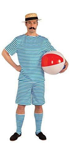 Forum Novelties Men's Roaring 20's Beachside Clyde Costume, Blue, Large