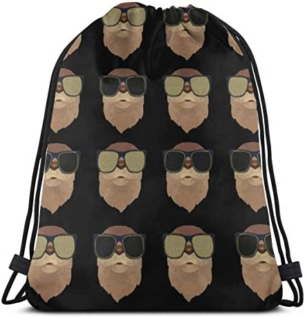 あなたはハイキングビーチトラベルバッグ36 x 43cm用のカワウソ巾着バッグジムダンスバッグバックパックになることができます