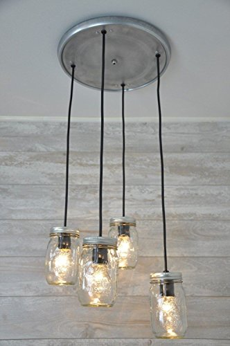 Mason Jar Chandelier Pendant Light Fixture