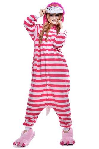 Cheshire Costume Pictures Cat (Halloween Cat Pajamas Unisex Sleeping Wear Kigurumi Onesie Cosplay Costumes)