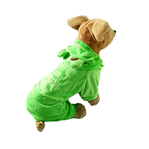 Coppthinktu Frog Dog Costume Haloween Frog pet Hoodie Outfit Jumpsuit