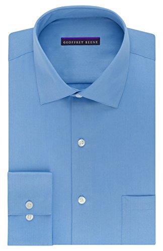 blue sateen dress shirt - 2