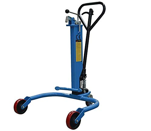Dazone Drum Picker, Industrial Hydraulic Oil Drum Truck/Cart, 550 lb Drum Lifter for Factories, Workshops, Warehouses, and Dock Operations