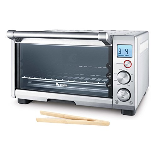 Breville Brushed Stainless Steel Smart Compact Toaster Oven with Free Bamboo Toast Tongs (Toaster Oven Breville Compact compare prices)