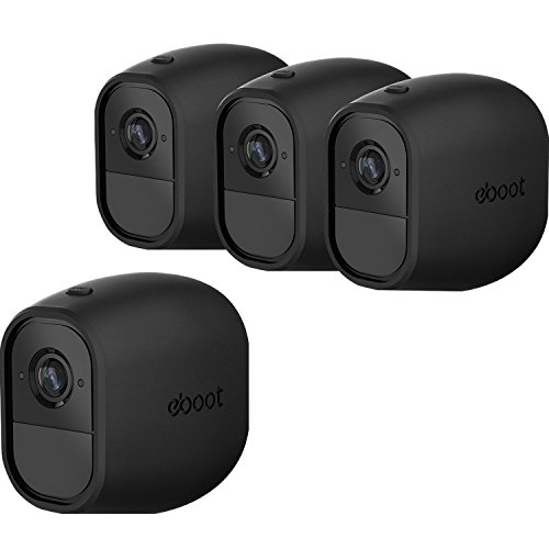eBoot 4 Pack Silicone Skins Cover Protective Skin for Arlo Pro, Arlo Pro 2 Smart Security Wire-free Cameras, Black