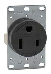 bryant electric 9650fr 50 amp 250v nema 6 50r flush. Black Bedroom Furniture Sets. Home Design Ideas