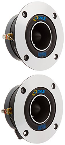 "1"" Car Audio Speaker Tweeter - 300 Watt High Power Super Titanium Tweeter System w/ 3.75 Inch Aluminum Bullet Horn, 2kHz-25 kHz Frequency, 98 dB, 4-8 Ohm, Heavy Duty 20 oz Magnet - Pyle PDBT19 (Pair)"