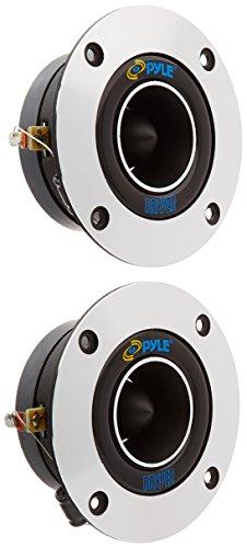 "Screw Pyle Titanium - 1"" Car Audio Speaker Tweeter - 300 Watt High Power Super Titanium Tweeter System w/ 3.75 Inch Aluminum Bullet Horn, 2kHz-25 kHz Frequency, 98 dB, 4-8 Ohm, Heavy Duty 20 oz Magnet - Pyle PDBT19 (Pair)"