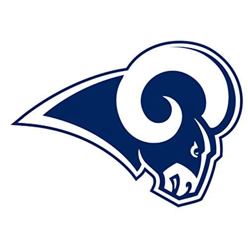fb 4 Los Angeles Rams Die Cut Stickers NFL Football Logo Sticker Team Helmet Set LA Horns