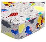 SheetWorld Fitted Crib / Toddler Sheet - Pooh & Friends Grey - Made In USA