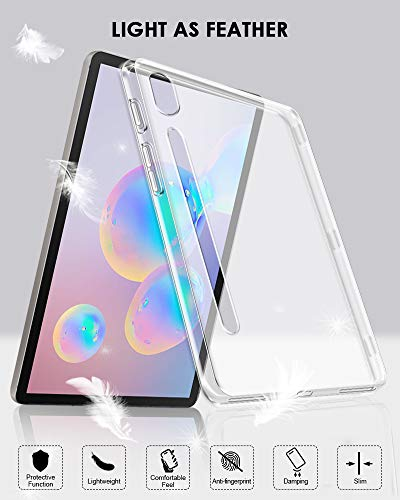 TopACE for Samsung Galaxy Tab S6 10.5 2019 Case, Ultra Thin Soft Gel TPU Case Cover Compatible for Samsung Galaxy Tab S6 10.5 SM-T860 (Translucent)