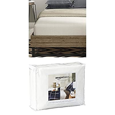 Signature Sleep Memoir 10 Inch Memory Foam Mattress with CertiPUR-US certified foam, Twin with Mattress Protector