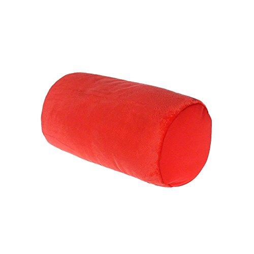 Relaxkissen Nackenrolle Kuschelkissen Nackenrolle Reiskissen Microkügelchen glattes Microfaser , Farbwahl:lachsrot