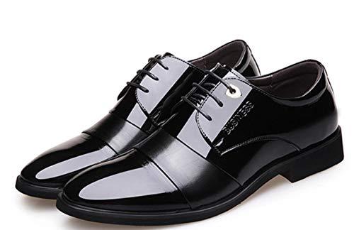 Farbe Hochzeitsschuhe Kleid Black 2018 Britische Wies Business Shiney Männer Leder wgOxnHqaP