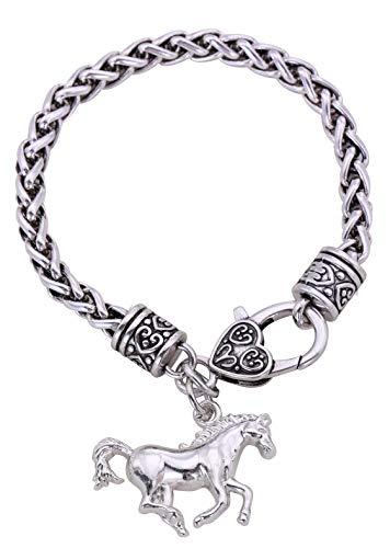 - fishhook Animal Horse Head Charm Pendant Bracelet Animal Lovers Kids