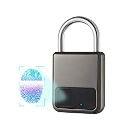 Color:Grey Specifications: 1.Your finger is your key,This smart fingerprint padlock has 360°fingerprint acquisition function and only need 0.5 second to be unlocked . Keyless Smart Fingerprint lock is equipped with advanced fingerprint te...