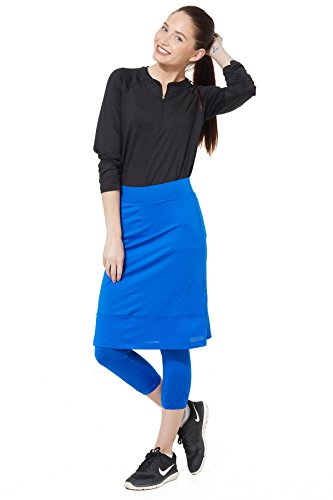 Snoga Full-Coverage Pencil Skirt w/ Cropped Leggings - Sapphire Blue, Small