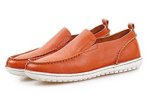 Tda Menns Varmt Anbefale Komfortabel Skinnskli Kjører Virksomheten Kjole Loafers Båt Sko Oransje