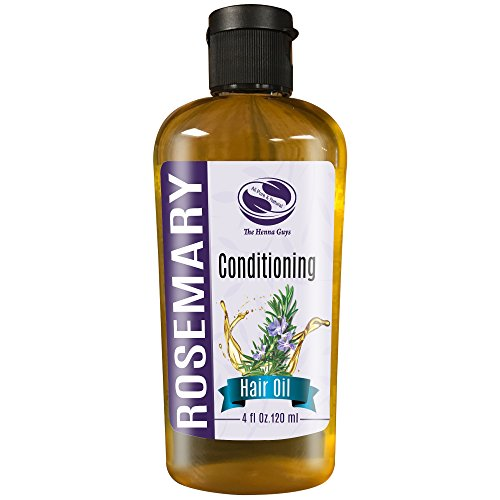 4 fl. Oz, Rosemary Herbal Hair & Scalp Massaging Oil, Best After care oil for henna - made with 100% Natural & pure argan oil, marula oil & Jojoba oil, scented with rosemary essential oil ()