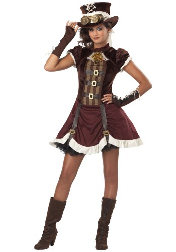 [California Costumes Steampunk Girl Tween Costume, X-Large] (Anime Woman Costume)