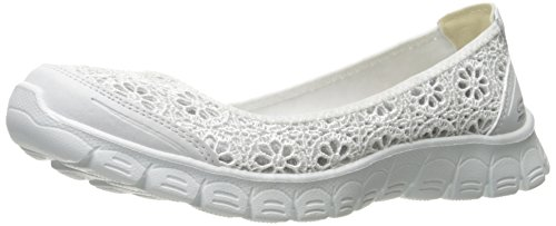 Skechers Sport Women's Ez Flex 3.0 Czarina Fashion Sneaker, White/Silver, 8.5 M US
