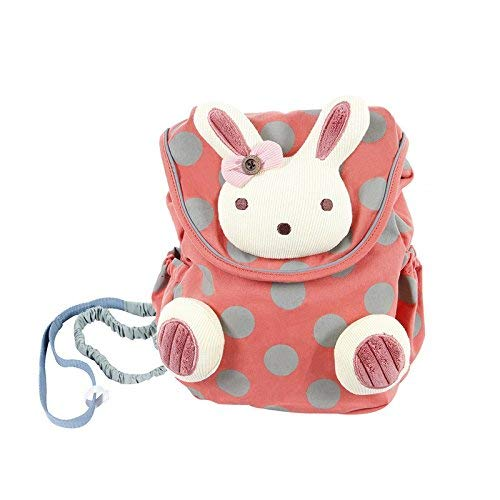 Hessie Red Toddler Backpack, Cute Stuffed Rabbit Bag for Girls over 1 Year Old, Child Backpack/Zoo, Baby Girl Backpack/Stuffed Animal Backpack/Harness Backpack/Mini Backpack for Toddler/Bag